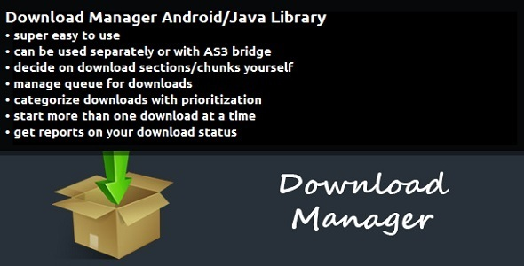 CodeCanyon Download Manager Android Java Library 9137934