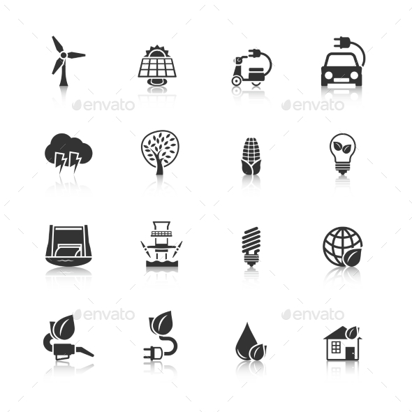 GraphicRiver Eco Energy Icons Set 9286865