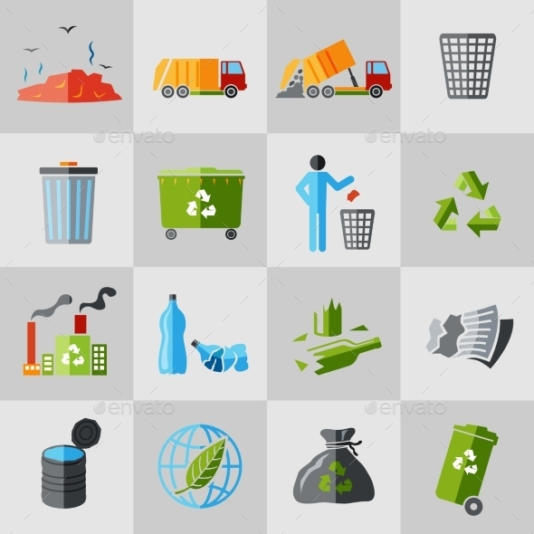 GraphicRiver Garbage Icons 9286867