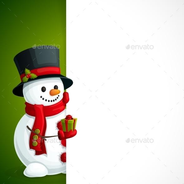 GraphicRiver Snowman Christmas Leaflet 9286883