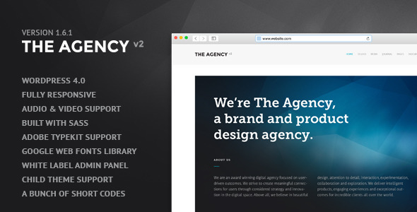 The Agency v2 - WordPress Theme for Agencies - Portfolio Creative
