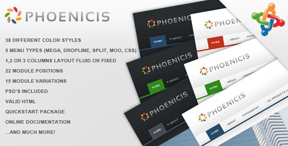 Phoenicis - Premium Joomla Template