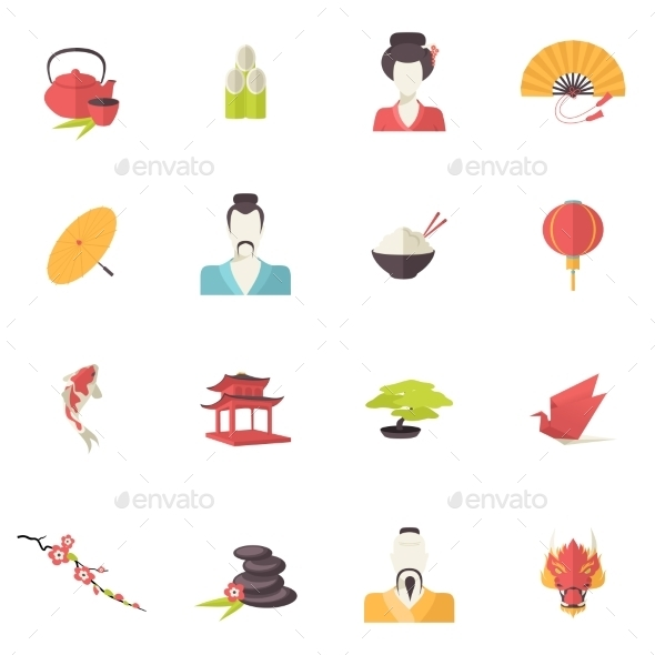 GraphicRiver Japan Icons 9286900
