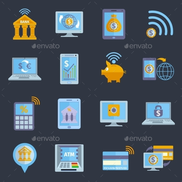 GraphicRiver Mobile Banking Icons 9286901