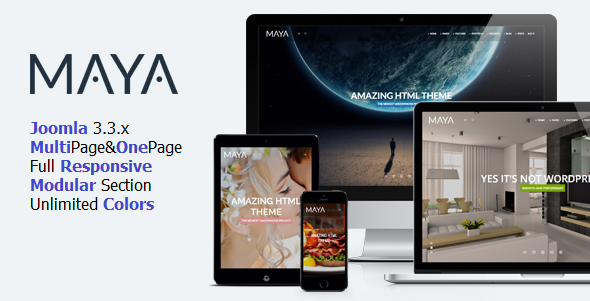 ThemeForest Maya Smart & Powerful Joomla Theme 9286902