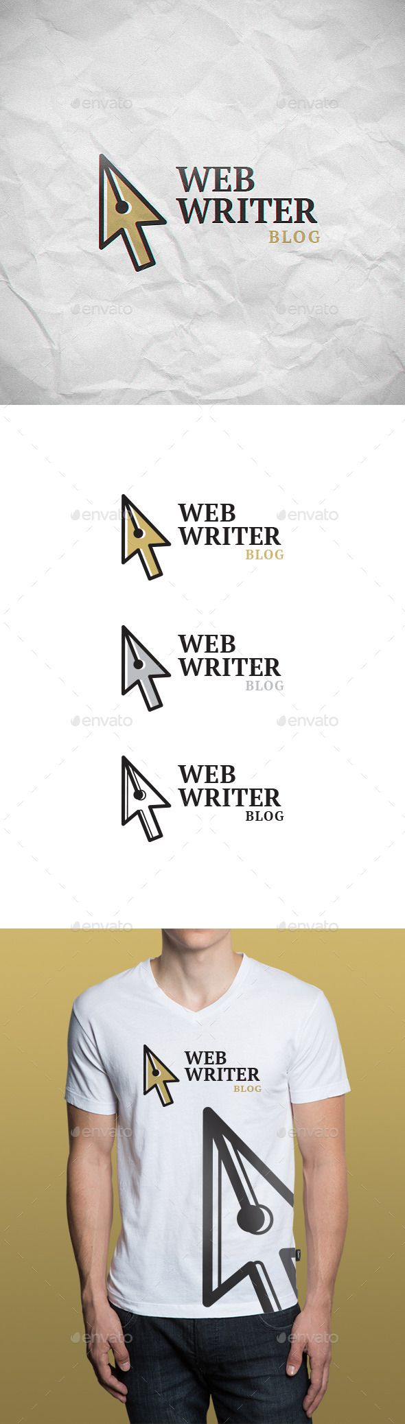 GraphicRiver Web Writer Logo Template 9287001