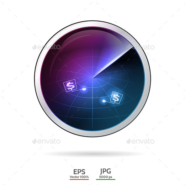 GraphicRiver Conceptual Vector Illustration of Business Radar 9287038