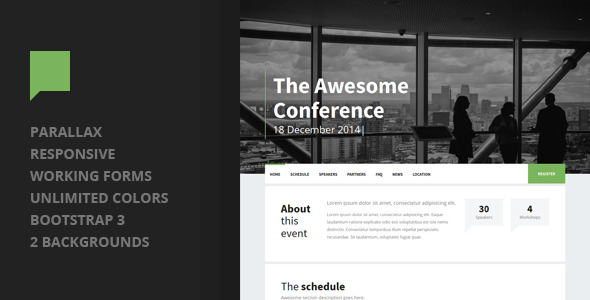 ThemeForest Dialog Event Landing Page 9248515