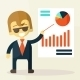 Businessman looking at the Graph - GraphicRiver Item for Sale