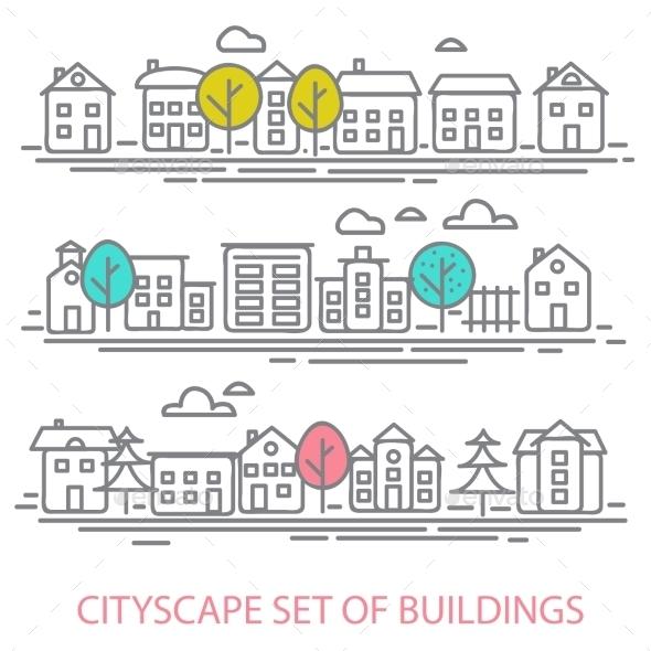 GraphicRiver Cityscape Set 9287166