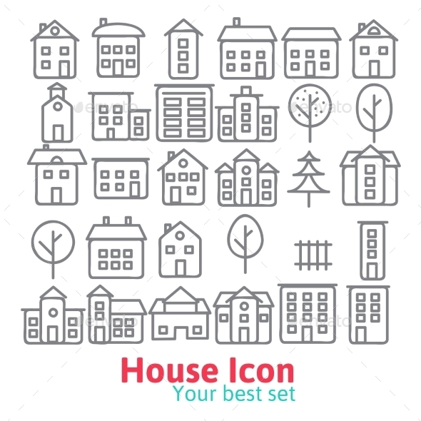 GraphicRiver Building Icons Set 9287171