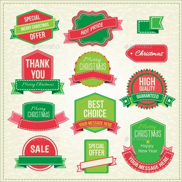 GraphicRiver Collection of Christmas Ornaments and Decorative Emblems 9287310