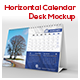 Horizontal Calendar Desk Mockup - GraphicRiver Item for Sale