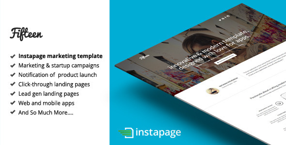 Download Fifteen - Instapage Marketing Template nulled download