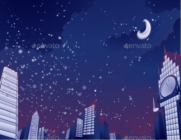 GraphicRiver Night City Landscape 9288415