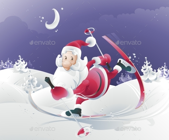 GraphicRiver Vector Illustration of Santa Claus 9288418