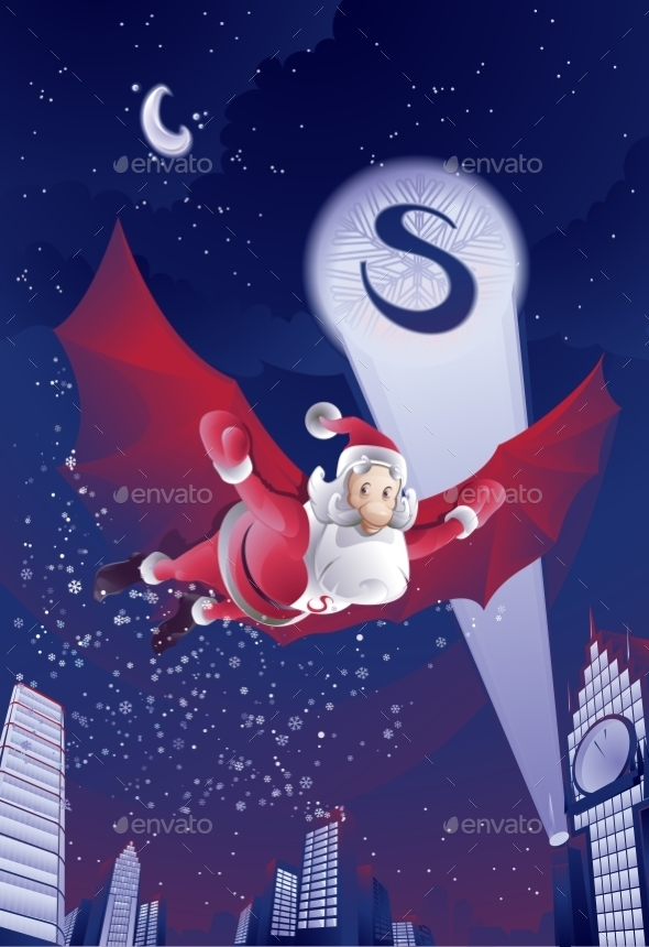 GraphicRiver Vector Illustration of Santa Claus 9288420
