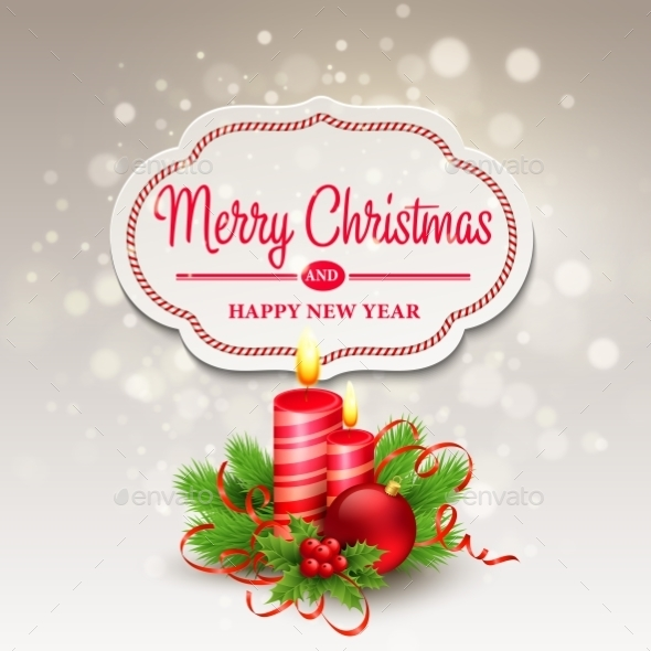 GraphicRiver Christmas Greeting Card Vector Illustration 9288424