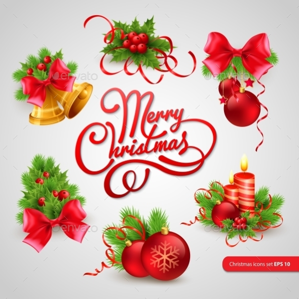 GraphicRiver Christmas Greeting Card Vector Illustration 9288429