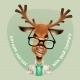 Deer Hipster. Vector Illustration - GraphicRiver Item for Sale