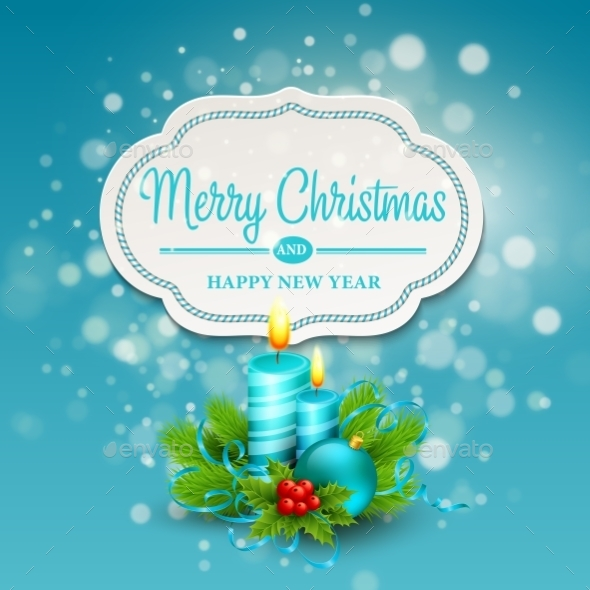 GraphicRiver Christmas Greeting Card Vector Illustration 9288562