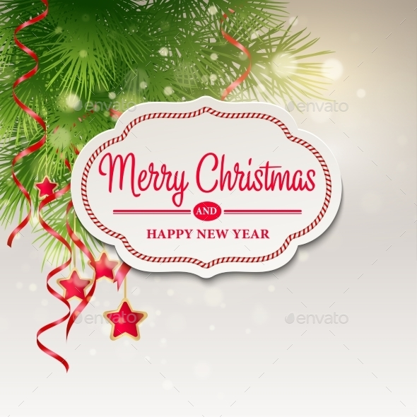 GraphicRiver Christmas Greeting Card Vector Illustration 9288564