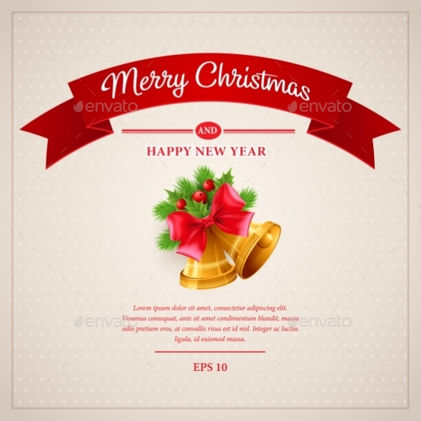 GraphicRiver Christmas Greeting Card Vector Illustration 9288573