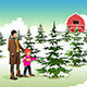 Father and Son Shopping for a Christmas Tree - GraphicRiver Item for Sale