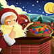 Santa Claus with Sleigh Full of Christmas Presents - GraphicRiver Item for Sale