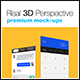 6 Real 3D Perspective Mock-Ups Phone 6 & 6+ Edition - GraphicRiver Item for Sale