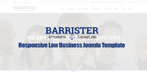 ThemeForest Barrister Responsive Law Business Joomla Template 9249788