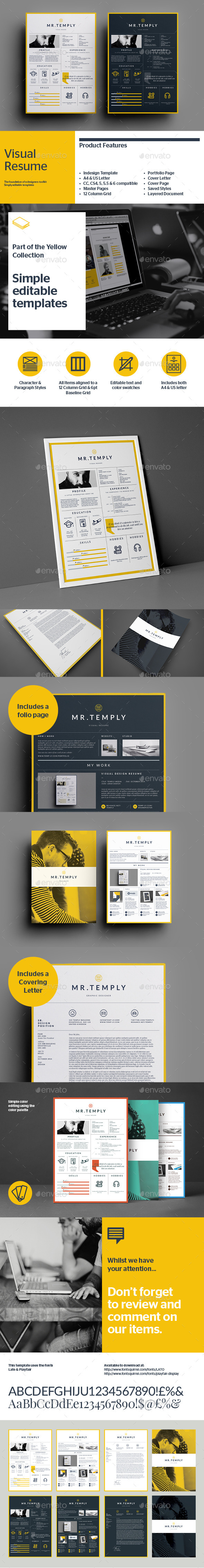 GraphicRiver Visual Resume 9242222