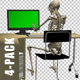Skeleton At Computer - Pack Of 4 - VideoHive Item for Sale