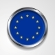 European Union Metal Button Flag - GraphicRiver Item for Sale