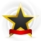 Gold Star with Ribbon - GraphicRiver Item for Sale