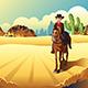 Cowboy Riding a Horse - GraphicRiver Item for Sale
