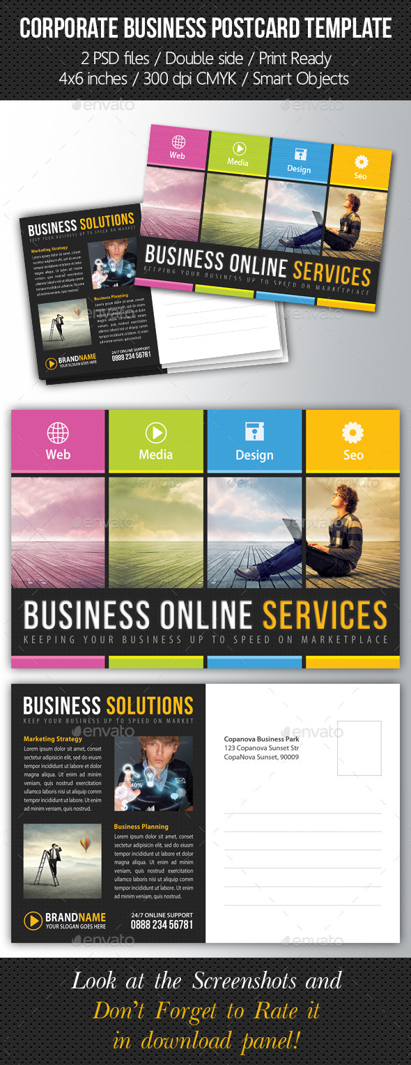 GraphicRiver Corporate Business Postcard Template V01 9289909