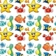 Seamless Design with Sea Creatures - GraphicRiver Item for Sale
