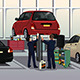 Auto Mechanic Fixing a Car Under the Hood - GraphicRiver Item for Sale