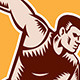 Discus Thrower Shield Woodcut - GraphicRiver Item for Sale