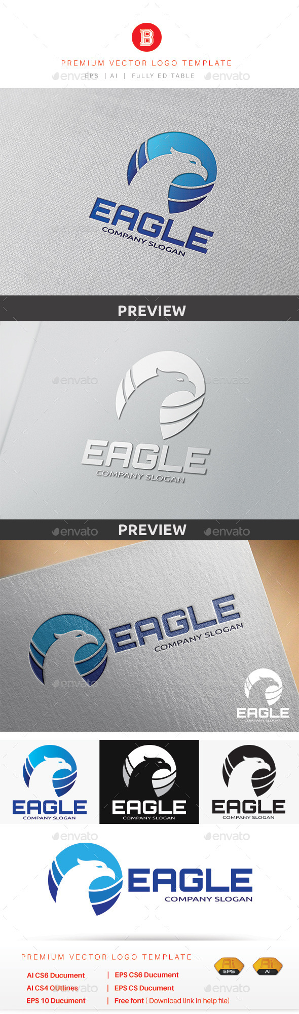 GraphicRiver Eagle Logo 9290527