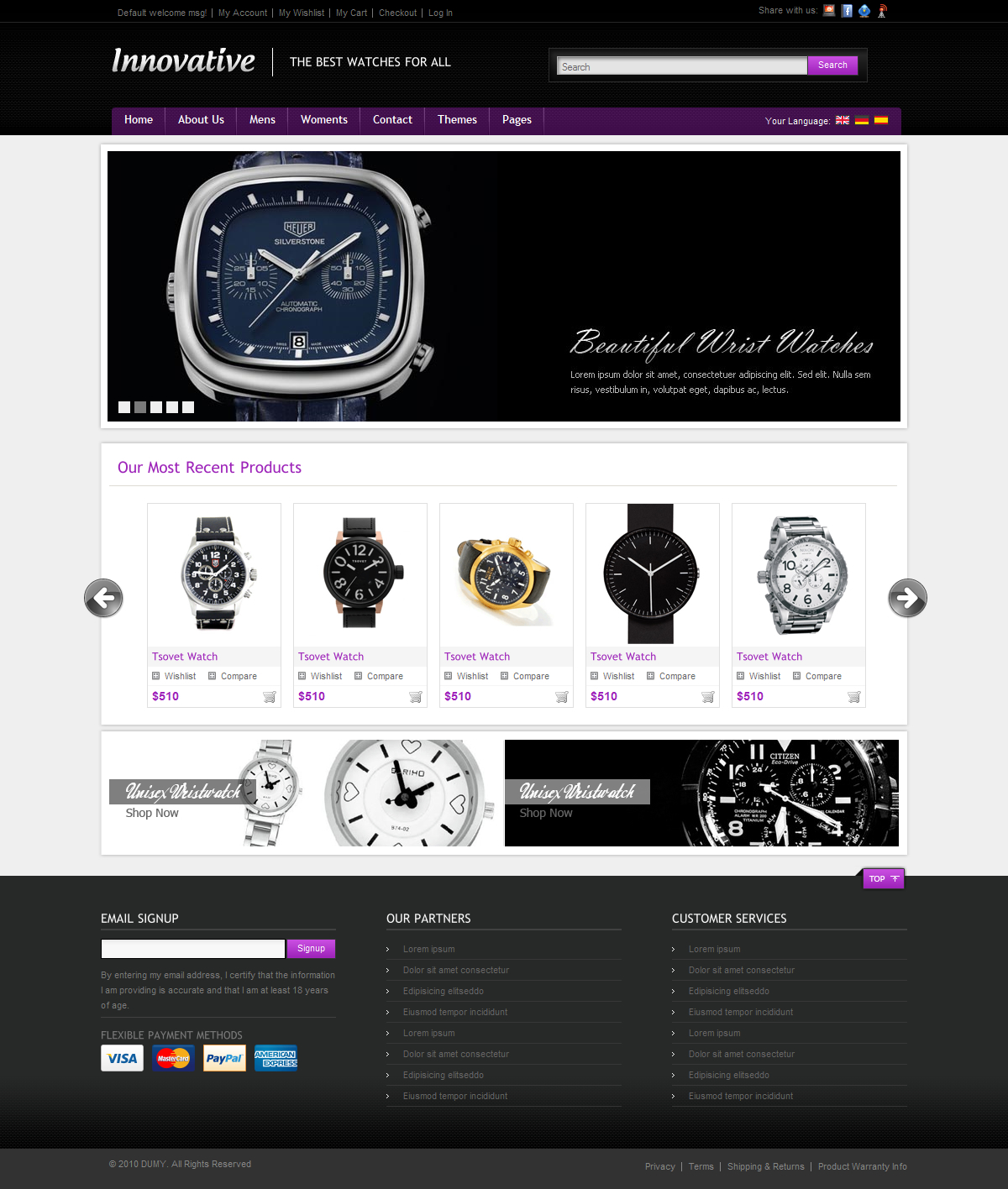 Innovative ecommerce Shop