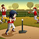 Kids Playing Tee Ball - GraphicRiver Item for Sale