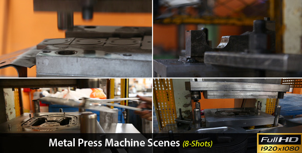Metal Press Machine Scenes