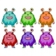 Colorful Aliens - GraphicRiver Item for Sale