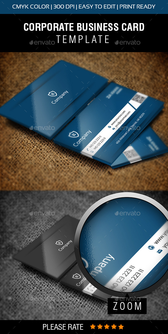 GraphicRiver Stylish Blue Business Card 9290797