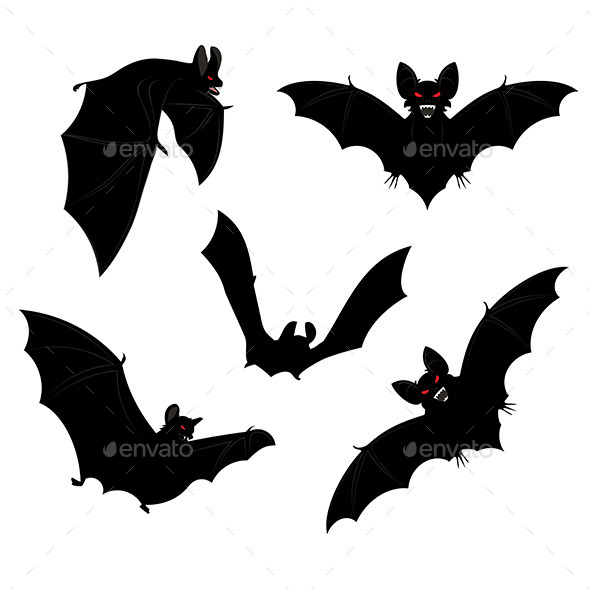 GraphicRiver Halloween Bats 9290801
