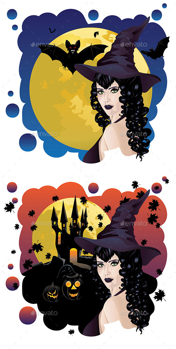 GraphicRiver Witch and Bats 9290808