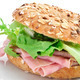 brown bagel filled with ham and lettuce mix - PhotoDune Item for Sale