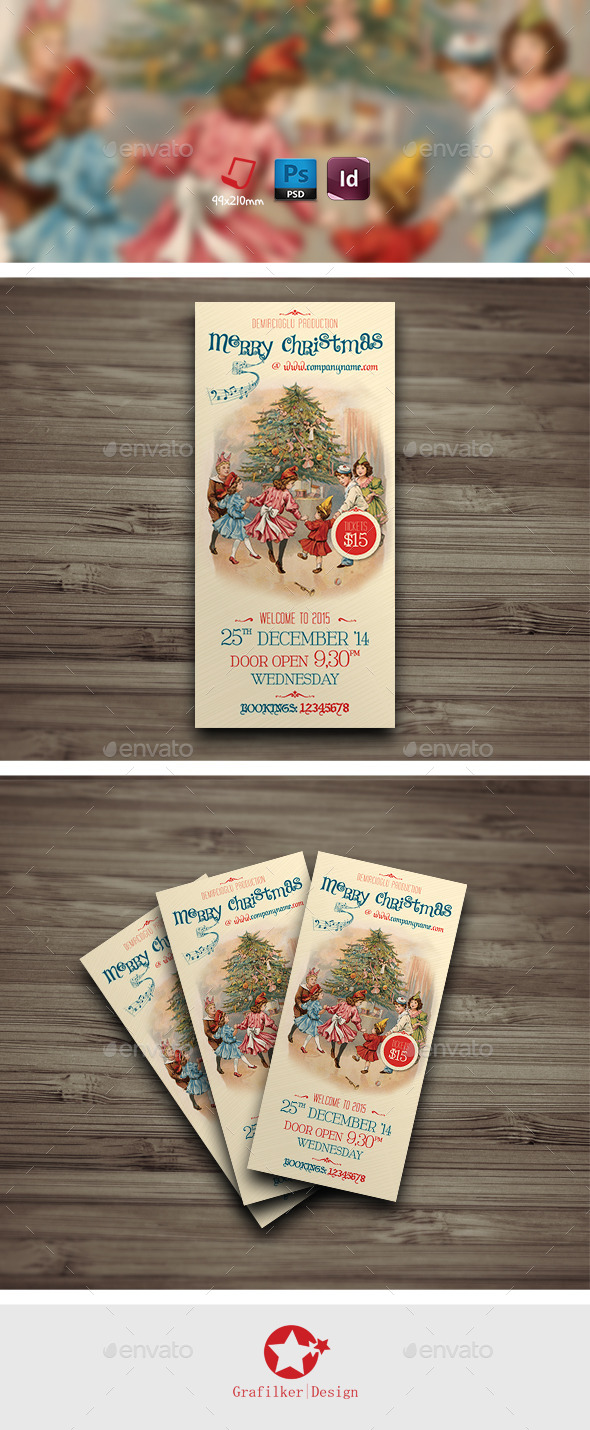 GraphicRiver Christmas Invitation Card Templates 9290923